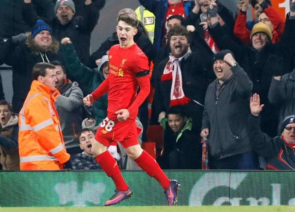 Ben Woodburn, 17, became Liverpool's youngest ever goalscorer during the club's 2-0 victory over Leeds United in League Cup.