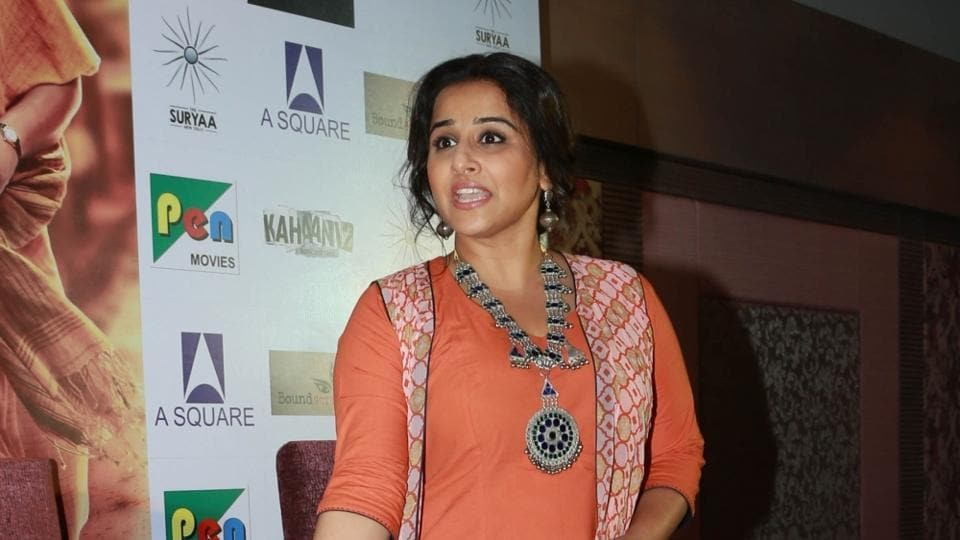 Vidya Balan during a press conference for Kahaani 2 in New Delhi.