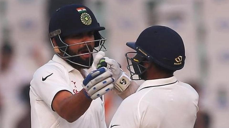 Parthiv Patel (right), back in the Indian Test team after eight years, played with guts and flair in Mohali. He scored 42 and 67 not out in the match, and partnered skipper Virat Kohli in the second innings to steer India to an eight-wicket victory against England.