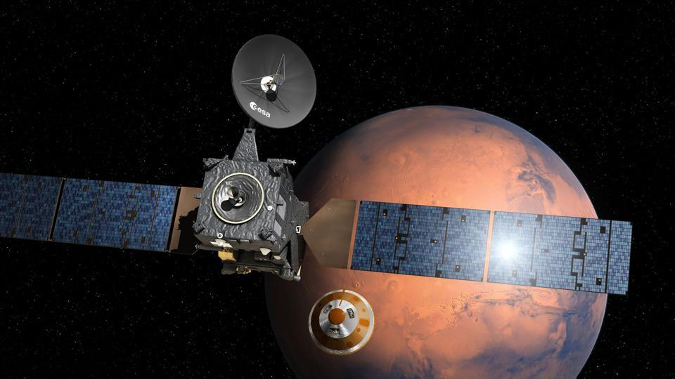 NASA radio aboard Europe's new Trace Gas Orbiter (TGO), data from NASA rovers Opportunity and Curiosity reached Earth last week.
