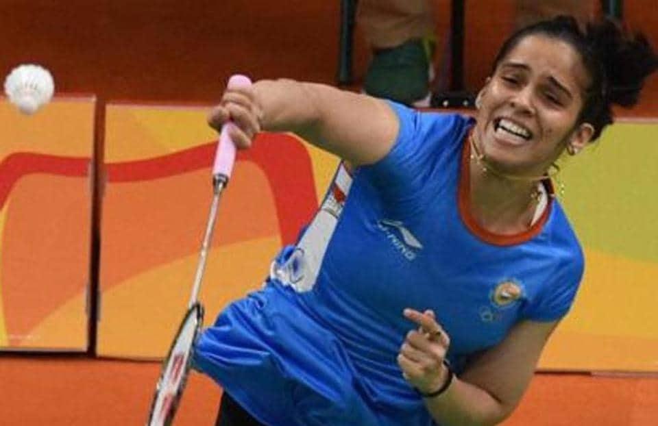 India's Saina Nehwal defeated Hanna Ramadini of Indonesia 21-23, 21-14, 21-18 in 63 minutes at the Macau Open badminton tournament.