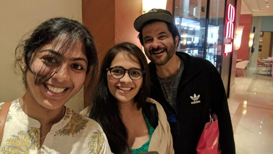 Anil Kapoor was clicked outside an ATM with his fans.