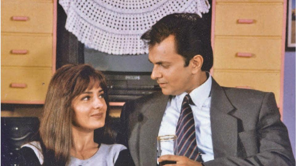 Kitu Gidwani and Shashi Puri in a still from 1995 TV show Swabhimaan.