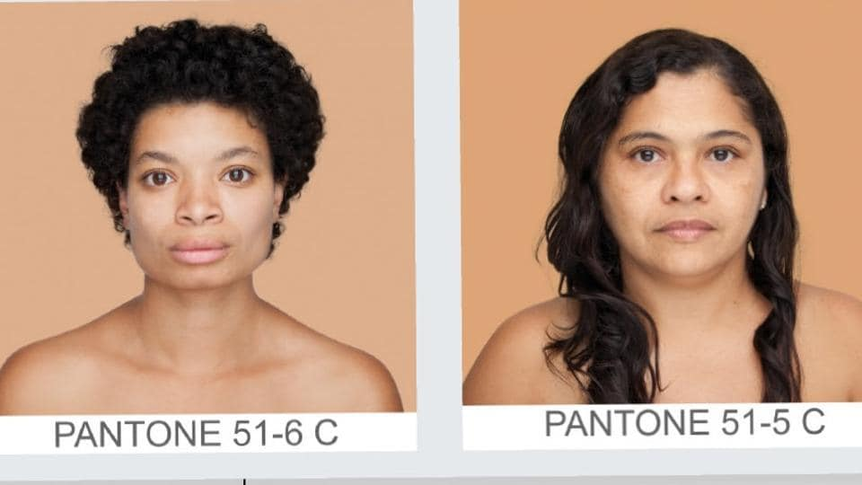 The photo series, titled Humanae, features passport photo-like images.