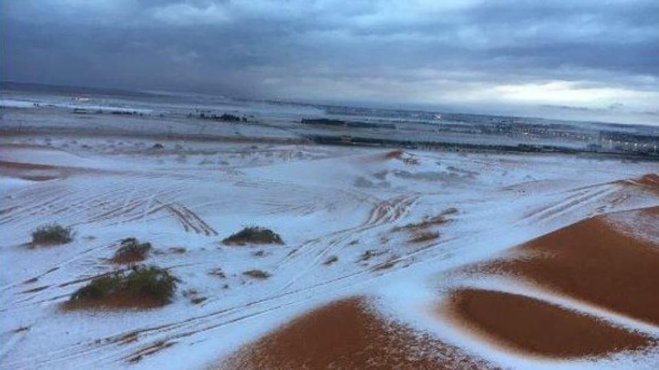 Saudi Arabia,Snowfall,Sheikh Snowboarding