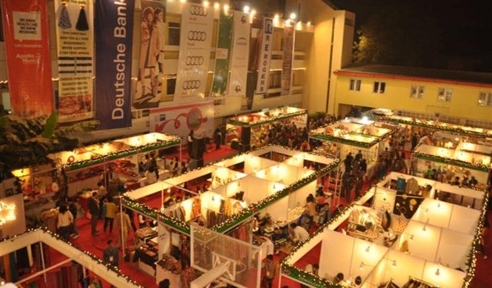 Get a taste of the German Christmas celebrations at the German Christmas market.