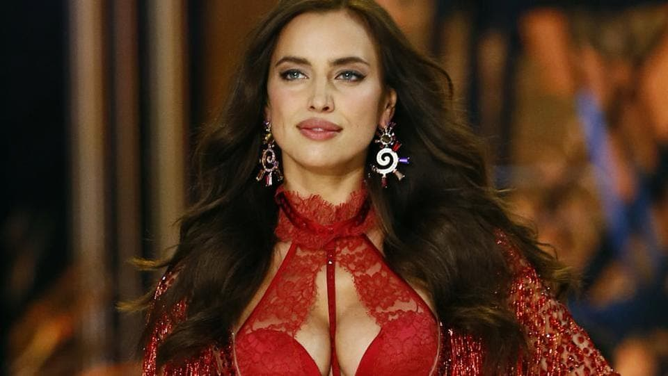 Irina Shayk presents a creation. The 30-year-old is reportedly pregnant right now. (AP)