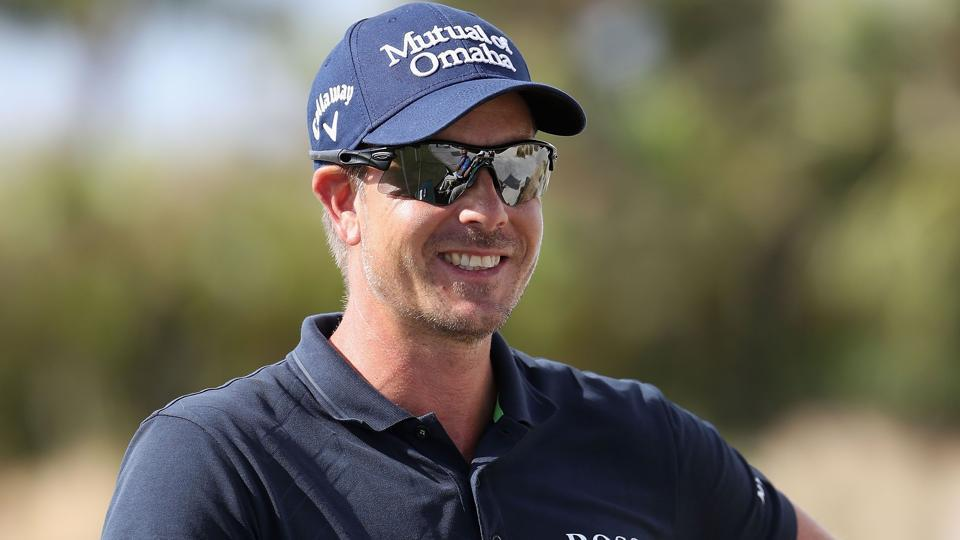 Henrik Stenson of Sweden practices on the putting green ahead of the Hero World Challenge at Albany, The Bahamas.