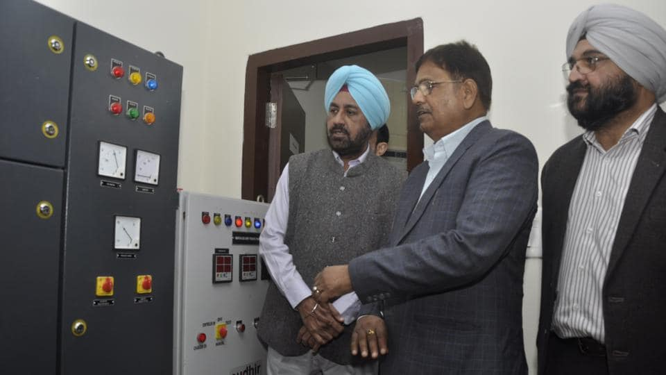 Director Commercial, PSPCL, Er Surinder Pall during inauguration of SCADA control centre in Jalandhar on Wednesday.