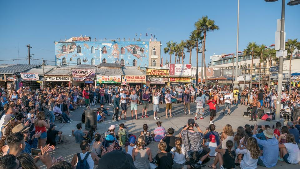 Film hub Los Angeles took the eighth spot. Seen here is the famous Santa Monica pier. (AFP)