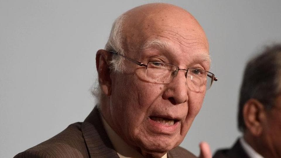 Aziz is leading the Pakistani delegation to the meeting of the process that focuses on regional cooperation between Afghanistan and its neighbours.
