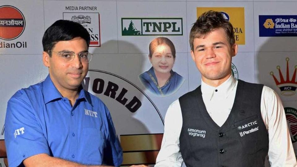Norway's Magnus Carlsen  dominated Viswanathan Anand in their world title clashes in 2013 and 2014.