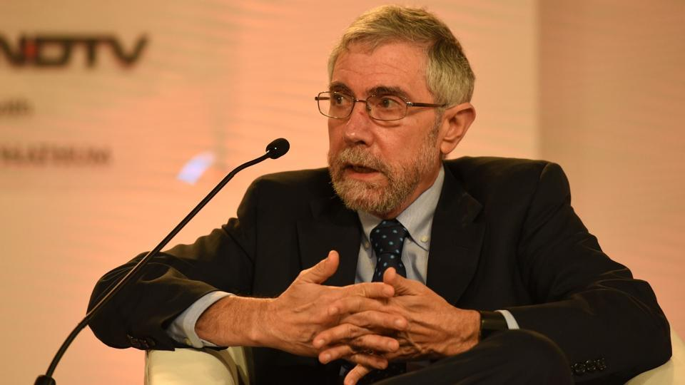 Nobel laureate Paul Krugman, professor of economics at the Graduate Centre of the City University of New York, at the summit. (Virendra Singh Gosain/ HT Photo )