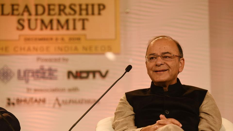 The 14th annual Hindustan Times Leadership Summit brings together prominent figures from different walks of life to discuss the new challenges we face. Union finance minister Arun Jaitley addressed the inaugural session of the summit.  (Virendra Singh Gosain/ HTPhoto)