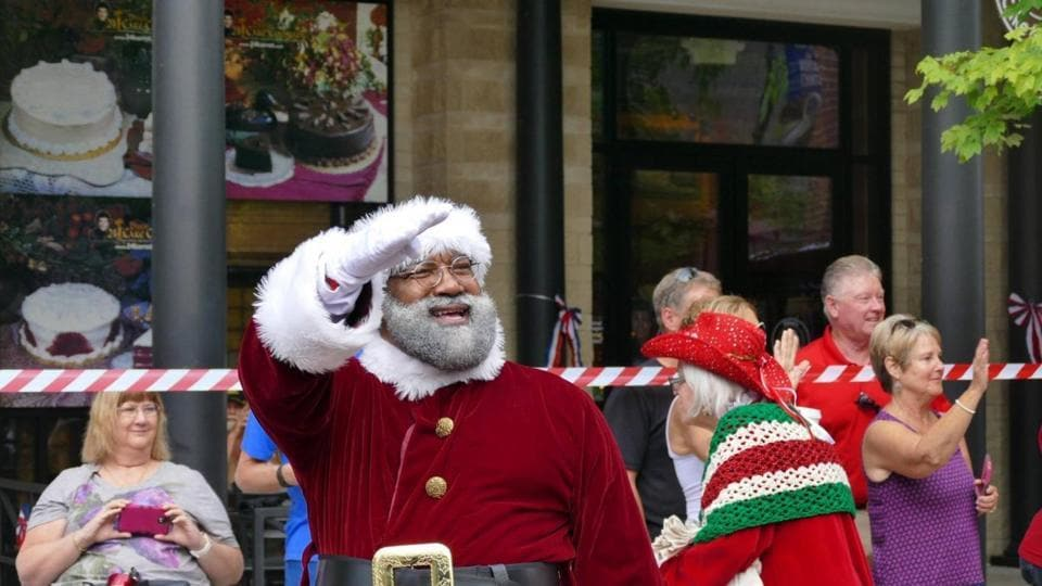 Black Santa,Santa Claus,Mall of America