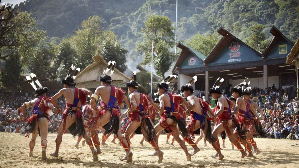 Organized by Nagaland's tourism and art & culture departments, the festival sees a range of cultural displays. (PTI)