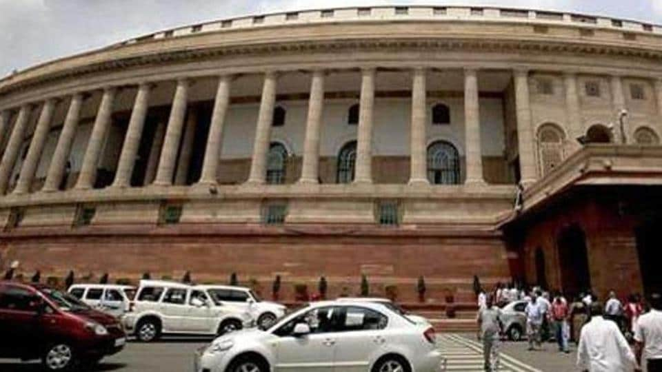 File photo of the Parliament building in New Delhi.