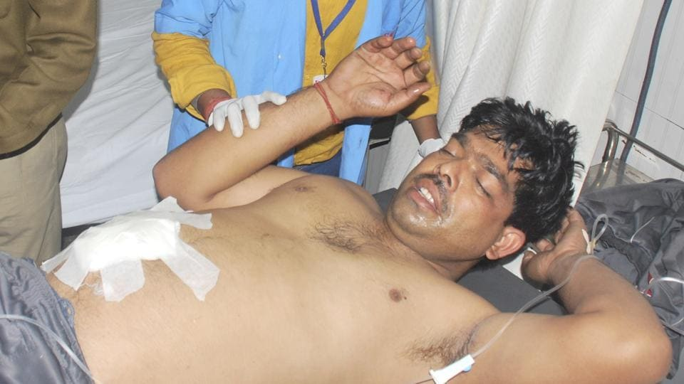 Sukhbir Singh, posted on PCR van 37, was injured after a fellow cop opened fire at him during an altercation.