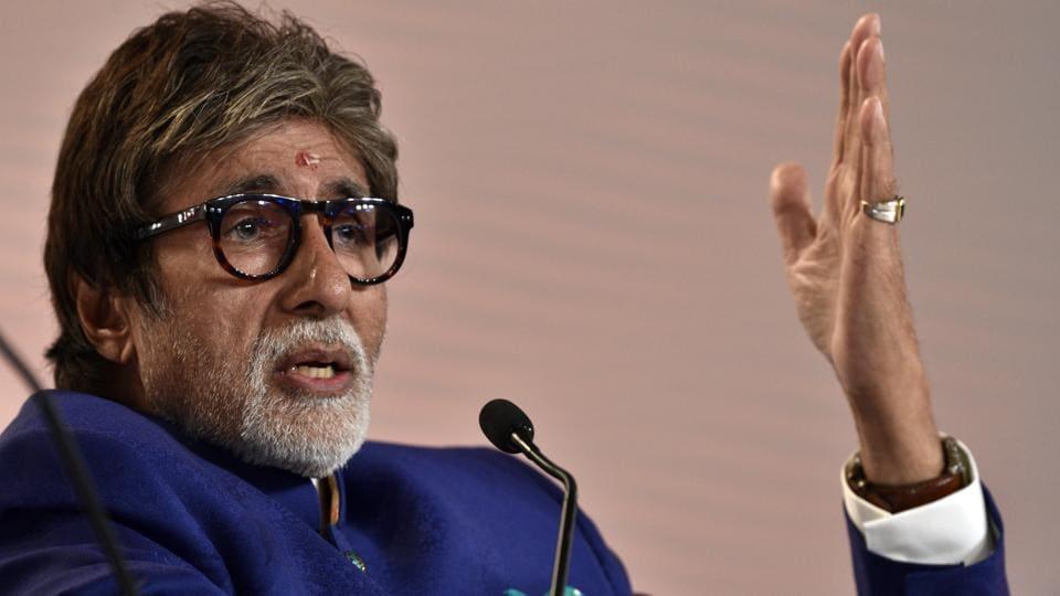 Amitabh Bachchan in conversation with Karan Johar during Hindustan Times Leadership Summit at Taj Palace, in New Delhi.