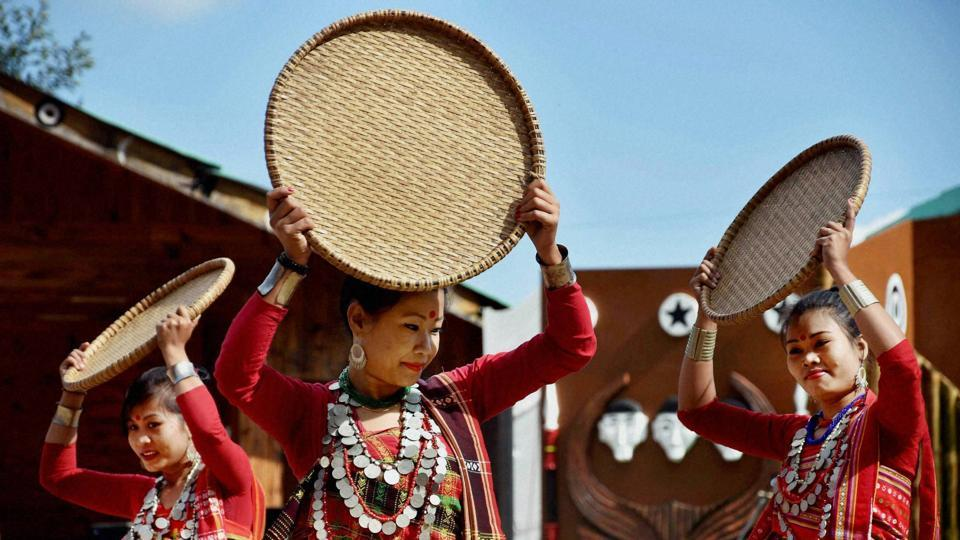 The festival sees the participation of all the tribes of Nagaland.  (PTI)