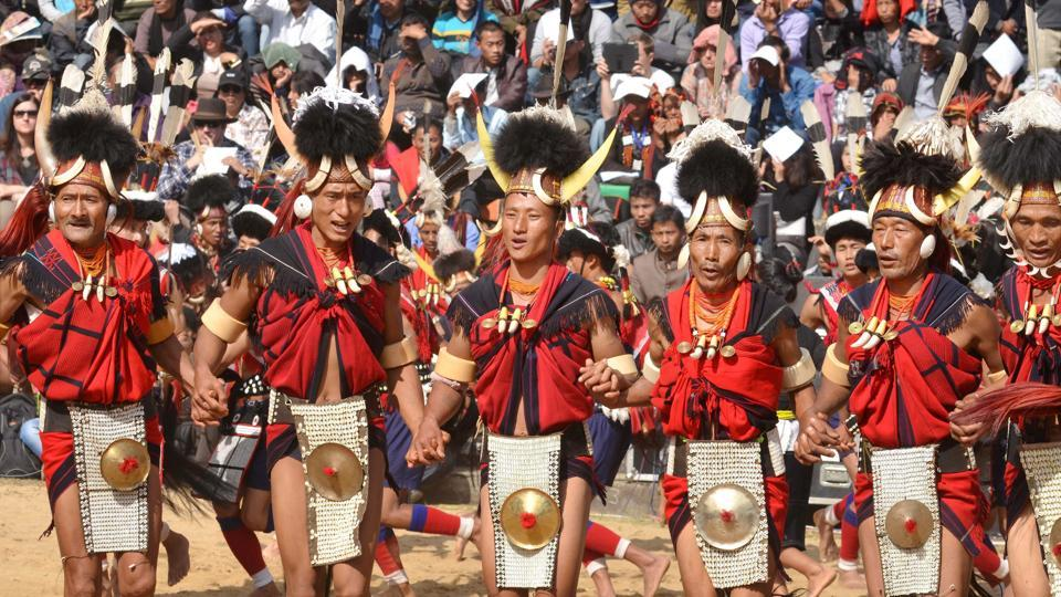 It takes place at Kisama, a Naga Heritage Village about 15 kms from Kohima. (PTI)