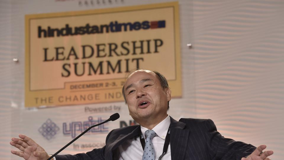 Chairman and CEO of SoftBank Masayoshi Son at the 14th Hindustan Times Leadership Summit in New Delhi on Friday.