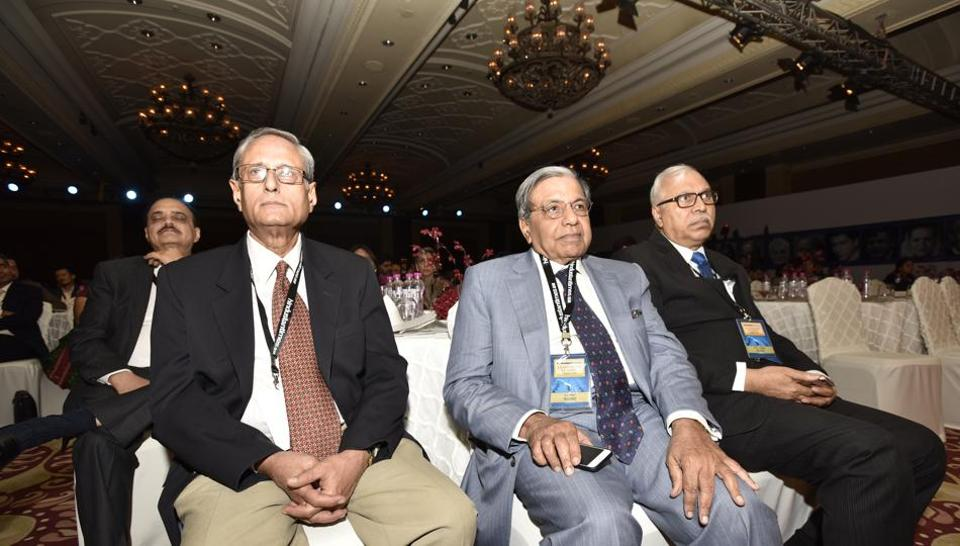 Delegates during the Hindustan Times Leadership Summit at Taj Palace in New Delhi on Friday.