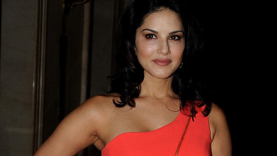 Indian Bollywood actor Sunny Leone takes part in a promotional event for her mobile app in Mumbai.