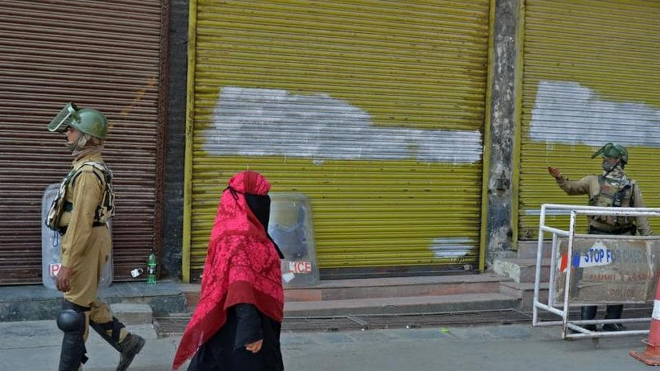 Most shops, fuel stations and other business establishments were shut in most areas of Kashmir due to the strike called by the separatists.