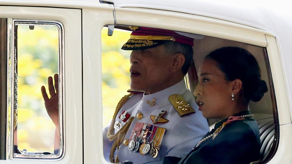 Thailand's new King Maha Vajiralongkorn Bodindradebayavarangkun is seen on his way out from the Grand Palace in Bangkok, Thailand, December 2, 2016.