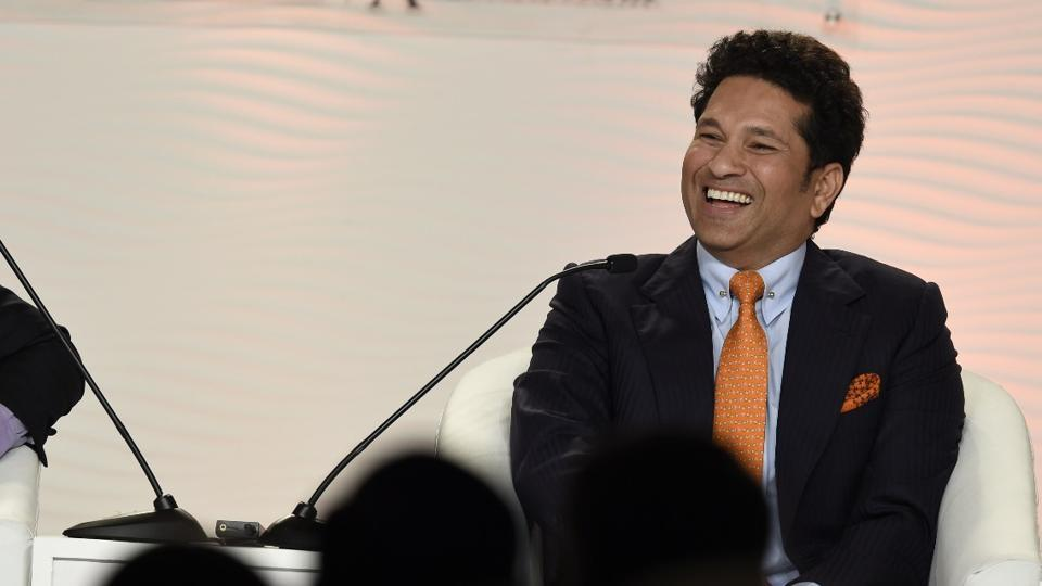 Cricket legend Sachin Tendulkar at the Hindustan Times Leadership Summit.