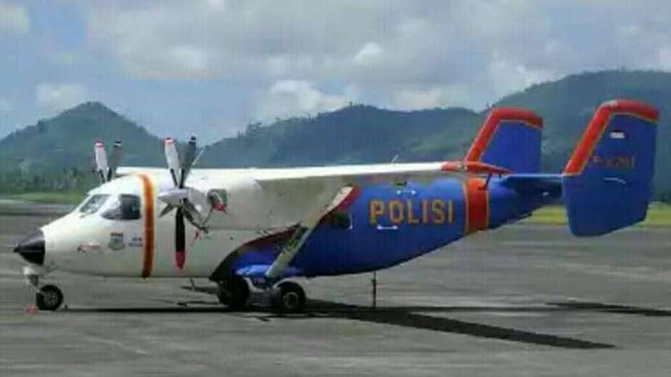 The plane, carrying five crew members and eight passengers, dropped out of contact midmorning about 50 minutes after taking off from Bangka island off the southeast coast of Sumatra island, a police statement said.