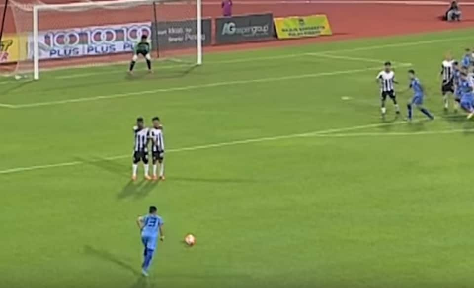 Footage of the 29-year-old scoring a viciously swerving goal from 35 metres (115 feet) out has gone viral, making him a sensation in football-crazy Malaysia.