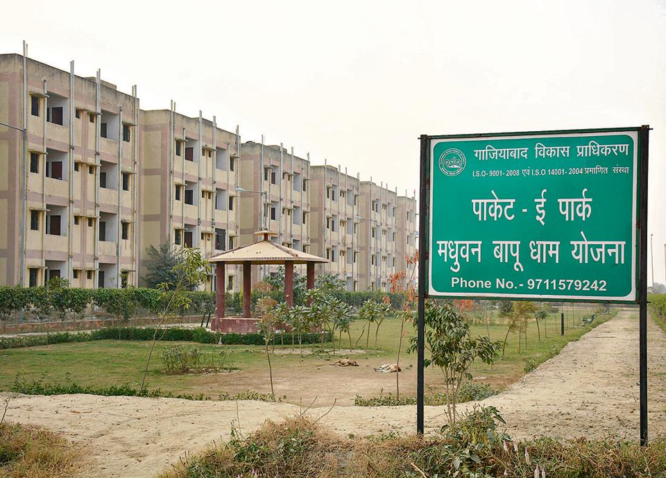 The housing scheme is spread over more than 1,250 acres in several villages between NH-24 and NH-58. The land was acquired to develop 20,000 housing units.