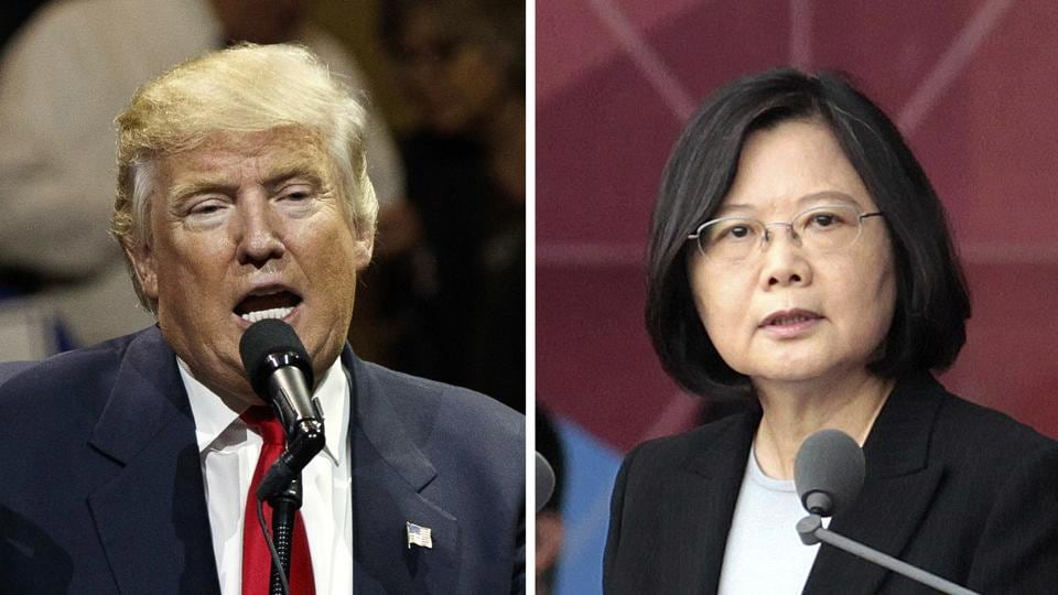 Combination photos showing US President-elect Donald Trump and Taiwan's President Tsai Ing-wen.