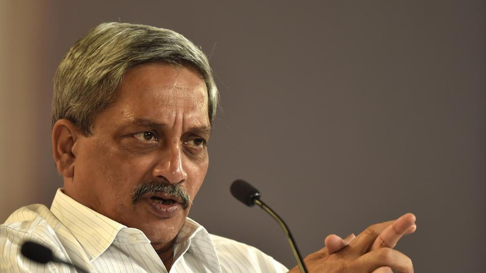 Manohar Parrikar during the session. (AJay Aggarwal /HT PHOTO)