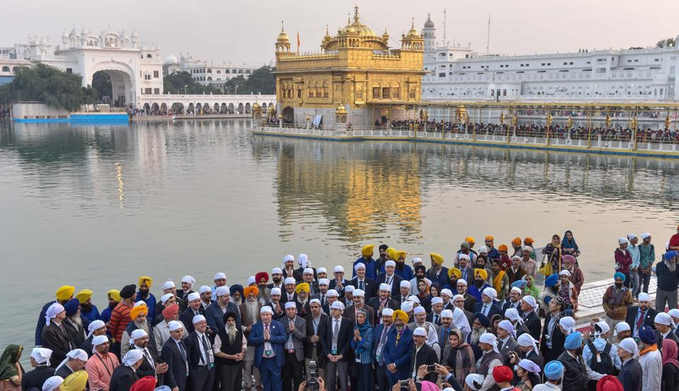 Delegates from participating countries in Heart of Asia Istanbul process on Afghanistan 6th Ministerial Conference at Golden Temple on Wednesday. (Gurpreet Singh/HT Photo)