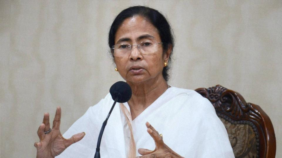 West Bengal chief minister Mamata Banerjee addresses a press conference in Kolkata on Thursday.