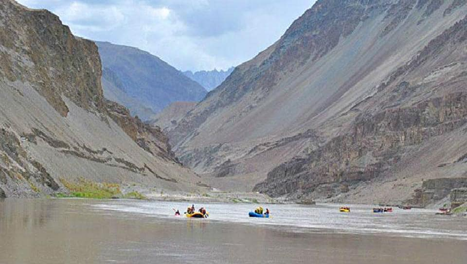 A file photo of Indus River.  The Indus Waters Treaty reserved for Pakistan the largest three rivers that make up more than four-fifths of the Indus-system waters, leaving for India just 19.48% of the total waters.