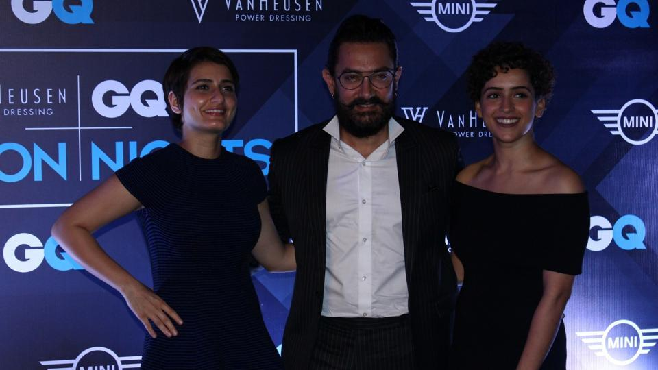 Actor Fatima Sana Shaikh, Aamir Khan and Sanya Malhotra of Dangal also came for the show. (IANS)