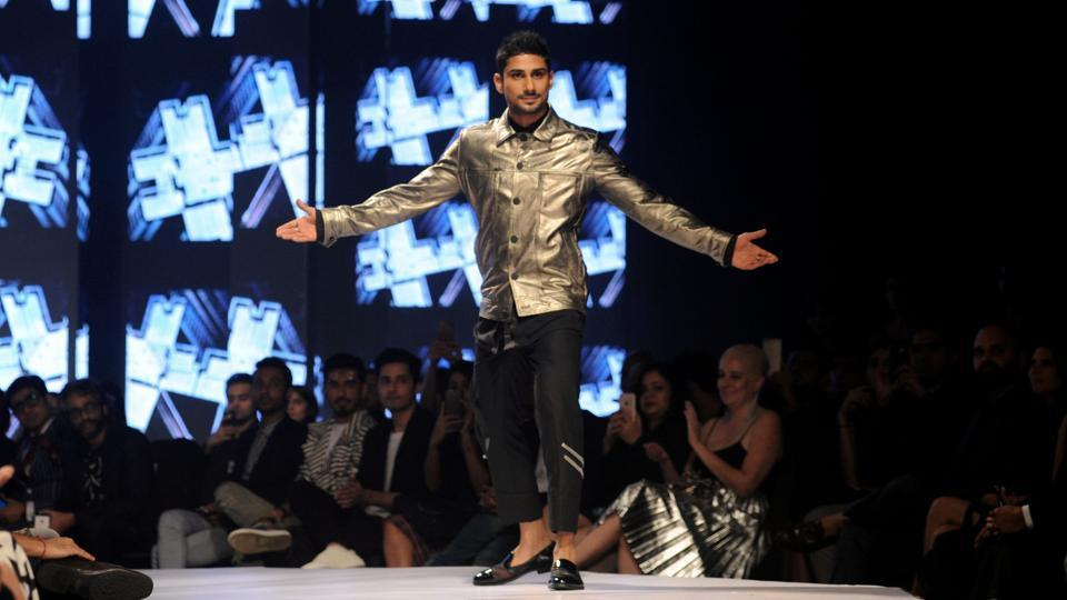 Actor Pateik Babbar walks the catwalk. (AFP)