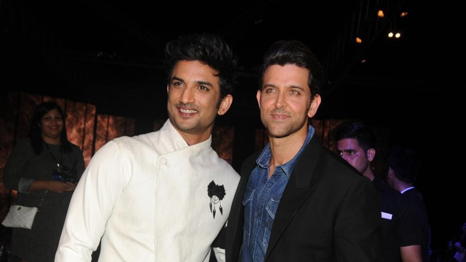 Sushant Singh Rajput and Hrithik Roshan attend the event. (AFP)
