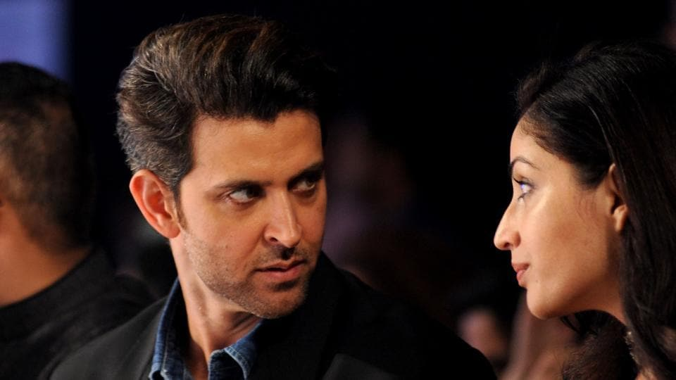 Hrithik Roshan with Yami Gautam. They will be seen together in their next movie, Kaabil.  (AFP)