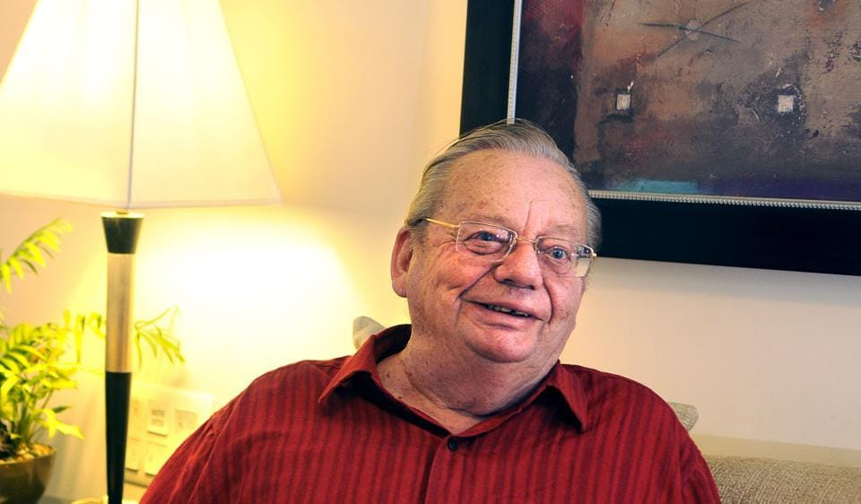 Author Ruskin Bond visited Gurgaon recently as part of a film and literature festival.