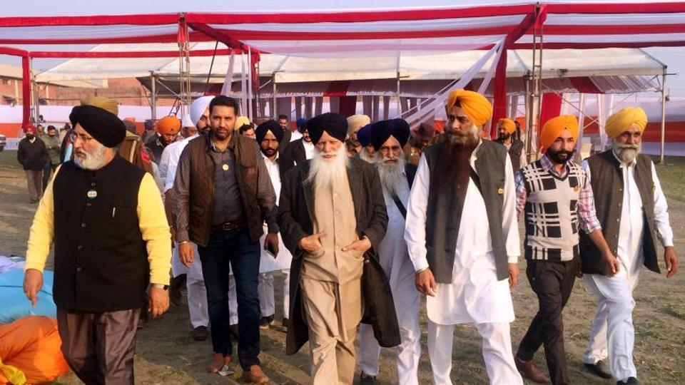 SAD ministers Tota Singh and Daljit Cheema were among those who inspected the rally venue in  Moga on Tuesday.