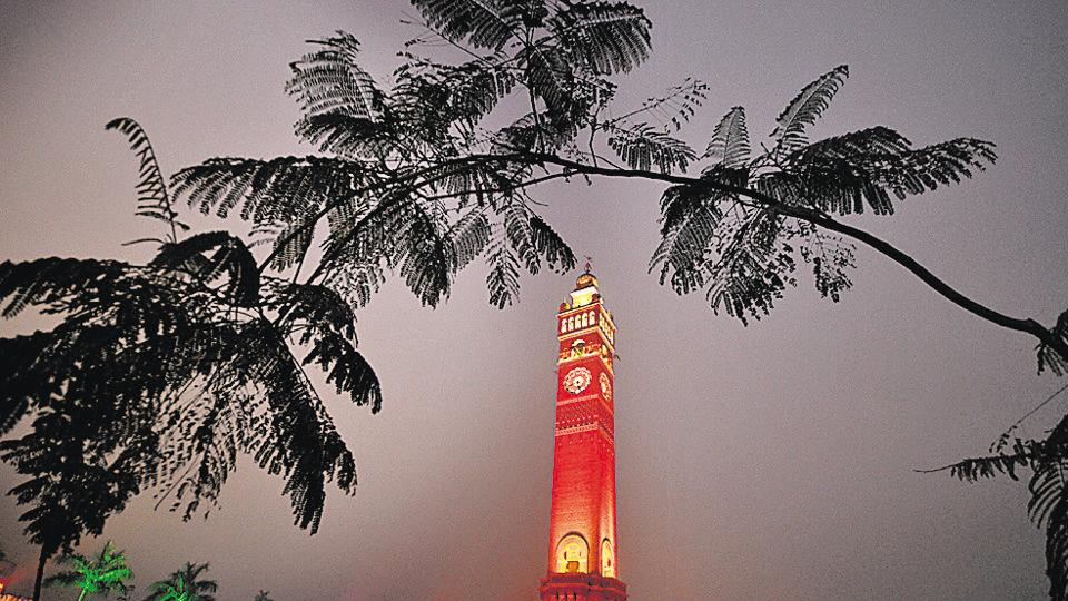 The spruced up Clock Tower at the Hussainabad area in the old city of Lucknow.