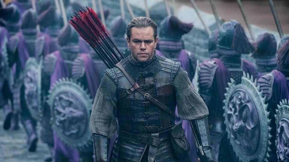 Matt Damon in a still from The Great Wall.