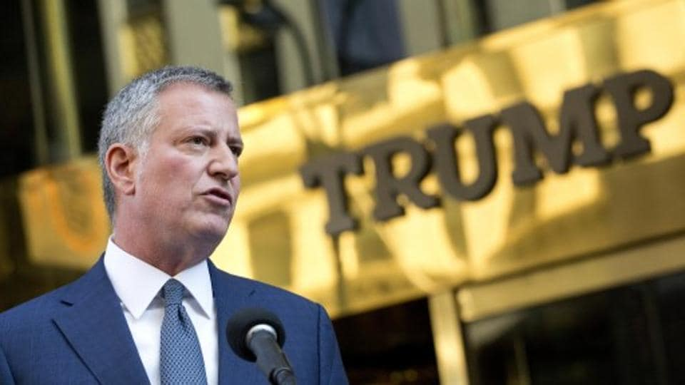 New York Mayor Bill de Blasio believes president-elect Donald Trump is to blame for an increase in reported New York City hate crime incidents.