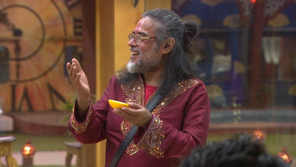 Swamiji's new hairstyle inside Bigg Boss house.
