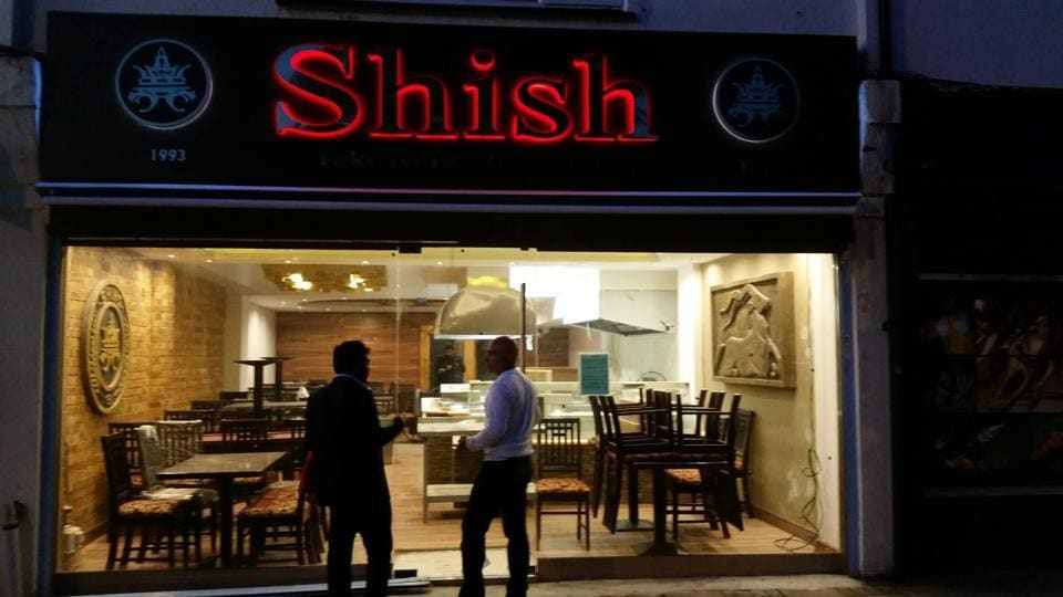 The Shish Restaurant in London is advertising a 3-course meal that includes soup, a casserole and rice pudding for dessert.